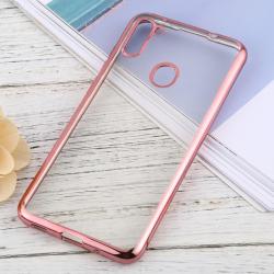 Capa para Samsung A11 TPU Transparente Rosa