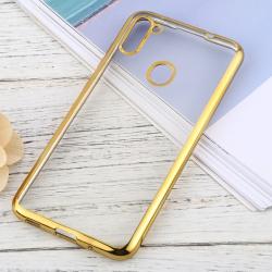 Capa para Samsung A11 TPU Transparente Dourado