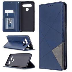 Capa LG K61 Flip Couro Azul
