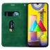 Capa Samsung M21s Flip Couro Verde