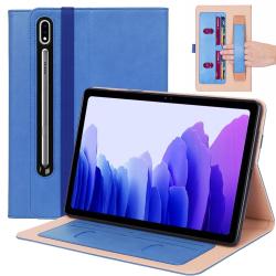 Capa Samsung Tab S7 T875 com Porta Cartões Azul