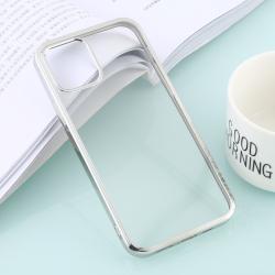 Capa de iPhone 12 Pro Max TPU Borda Prata