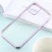 Capa de iPhone 12 Pro Max TPU Borda Roxo