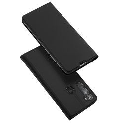 Capa Celular Motorola One Fusion+ de Couro Skin Pro Series Preto