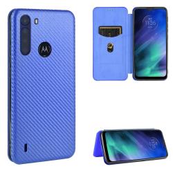 Capa Motorola One Fusion Flip Azul