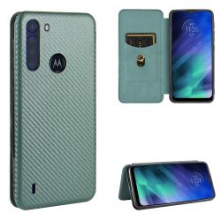 Capa Motorola One Fusion Flip Verde