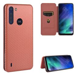 Capa Motorola One Fusion Flip Marrom
