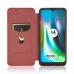 Capa Motorola Moto G9 Play Flip Marrom