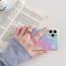 Capa iPhone 12 Pro Max Glitter com Anel Rosa-Azul