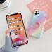 Capa iPhone 12 Glitter com Anel Rosa-Azul
