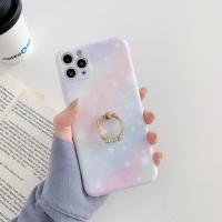 Capa iPhone 12 Pro Glitter com Anel Rosa-Azul