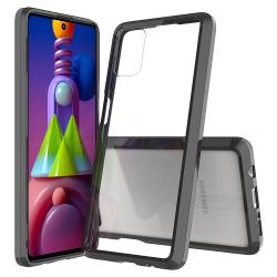 Capa Samsung Galaxy M51 TPU e Acrílico Preto