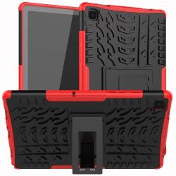 Capa Samsung Tab A7 2020 TPU e Plástico Vermelho
