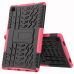 Capa Samsung Tab A7 TPU e Plástico Rosa