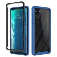 Capa Motorola Edge TPU e Plástico Azul