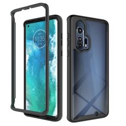 Capa para Motorola Edge+ Plus TPU e Plástico Preto