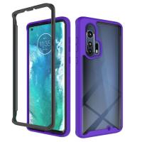 Capa para Motorola Edge+ Plus TPU e Plástico Roxo