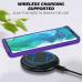 Capa para Motorola Edge+ Plus TPU e Plástico Azul Claro