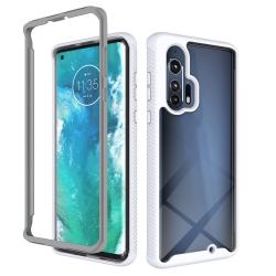 Capa para Motorola Edge+ Plus TPU e Plástico Branco