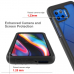 Capa para Moto G 5G Plus TPU e Plástico Vermelho