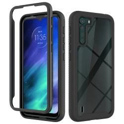 Capa Motorola One Fusion TPU e Plástico Preto