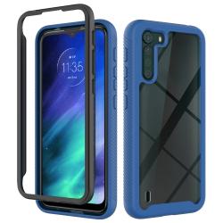 Capa Motorola One Fusion TPU e Plástico Azul