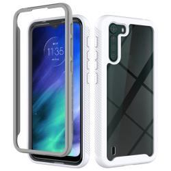 Capa Motorola One Fusion TPU e Plástico Branco