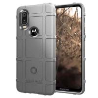 Capa Motorola One Vision Shield Series Cinza