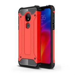 Capa Motorola Moto G7 Power Armor Series Vermelho
