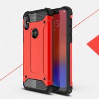 Capa para Motorola One Combinação TPU e Plástico - Vermelho
