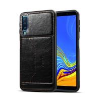 Capa Samsung A7 2018 Couro com Suporte - Preto