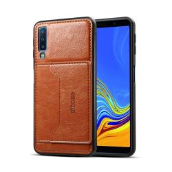 Capa Samsung A7 2018 Couro com Suporte - Marrom