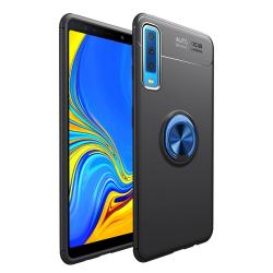 Capa Samsung A7 2018 com Anel de Suporte Preto-Azul
