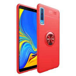 Capa Samsung A7 2018 com Anel de Suporte Vermelho