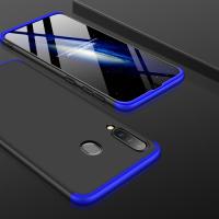 Capa Samsung M30 Cobertura Completa das Bordas Preto-Azul