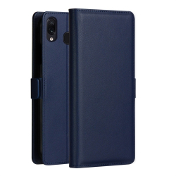 Capa Samsung M20 de Couro Azul