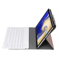 Capa e Teclado Bluetooth Samsung Tab A 10.1 2019 T510/T515 Rosê