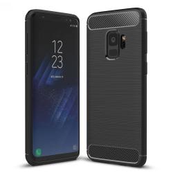 Capa Samsung Galaxy S9 TPU Fibra de Carbono Preto