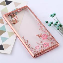 Capa Galaxy Note 10+ Plus Flores Rosa