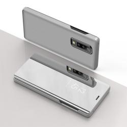 Capa Celular Samsung Galaxy A50 Flip Clear View Prata