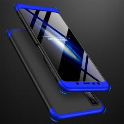 Capa Samsung A7 2018 Cobertura Completa das Bordas - Preto Azul