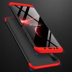 Capa Samsung A7 2018 Cobertura Completa das Bordas - Preto Vermelho
