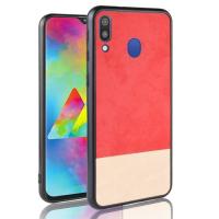 Capa Samsung M20 de Plástico e TPU Colorido - Vermelho