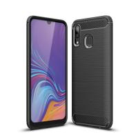 Capa Samsung Galaxy A30 TPU Fibra de Carbono Preto