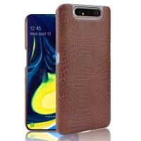 Capa Samsung Galaxy A80 Textura Crocodilo Marrom