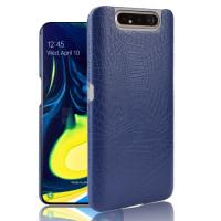 Capa Samsung Galaxy A80 Textura Crocodilo Azul