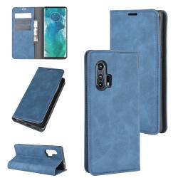 Capa Motorola Edge+ Plus Couro Retro Skin Azul