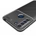 Capa Motorola One Fusion TPU Fibra de Carbono Azul