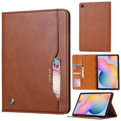 Capa Samsung Galaxy Tab A7 Flip Couro Marrom