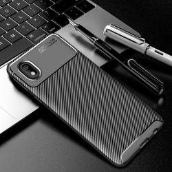 Capa Samsung A01 Core TPU Fibra de Carbono Preto